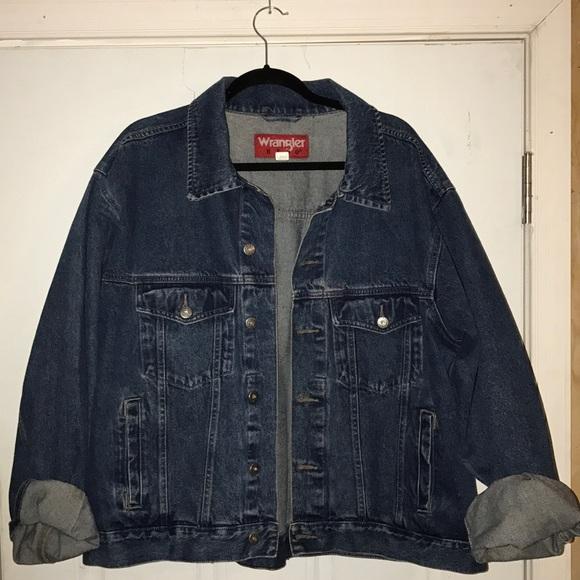 Vintage Men's Denim Jacket / Mens Jeans Jacket / Wrangler Jacket / Wrangler Denim Jeans Jacket / Blue Denim Coat / Men's Large Jacket / Coat rSXLrq